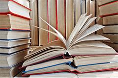 大量の書籍の画像