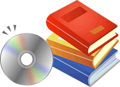 付属のCDが本と一緒においてあるイラスト