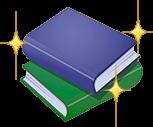 キラキラ輝く本の画像